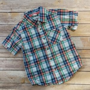 Childrens Place Plaid Collared Shirt